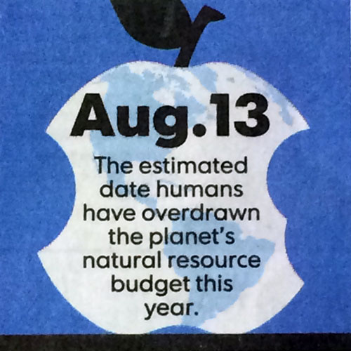 'Happy' Earth Overshoot Day? /USA Today