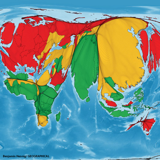 Benjamin Hennig maps humanity's ecological footprints/ GEOGRAPHICAL