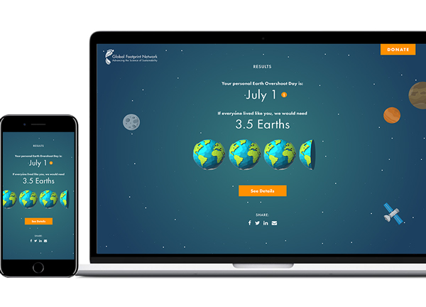 PLEDGE 7: I calculate my own Earth Overshoot Day and become a Footprint Champion!