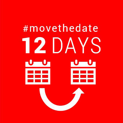 12 days #movethedate graphic