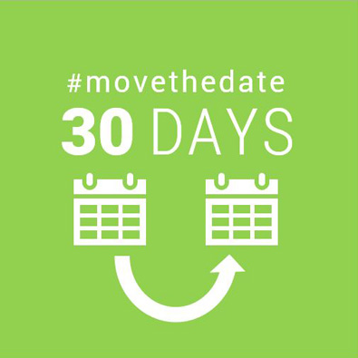 30 days #movethedate graphic