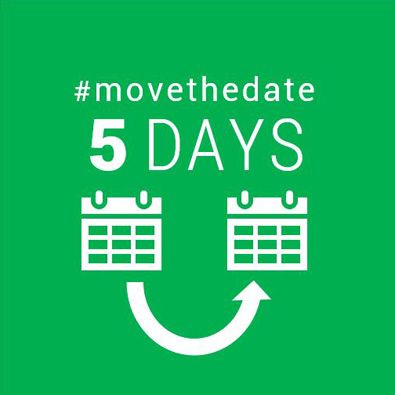 Move the Date 5 days graphic