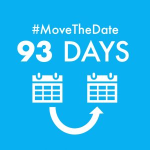 green box with white text - #MoveTheDate 93 days