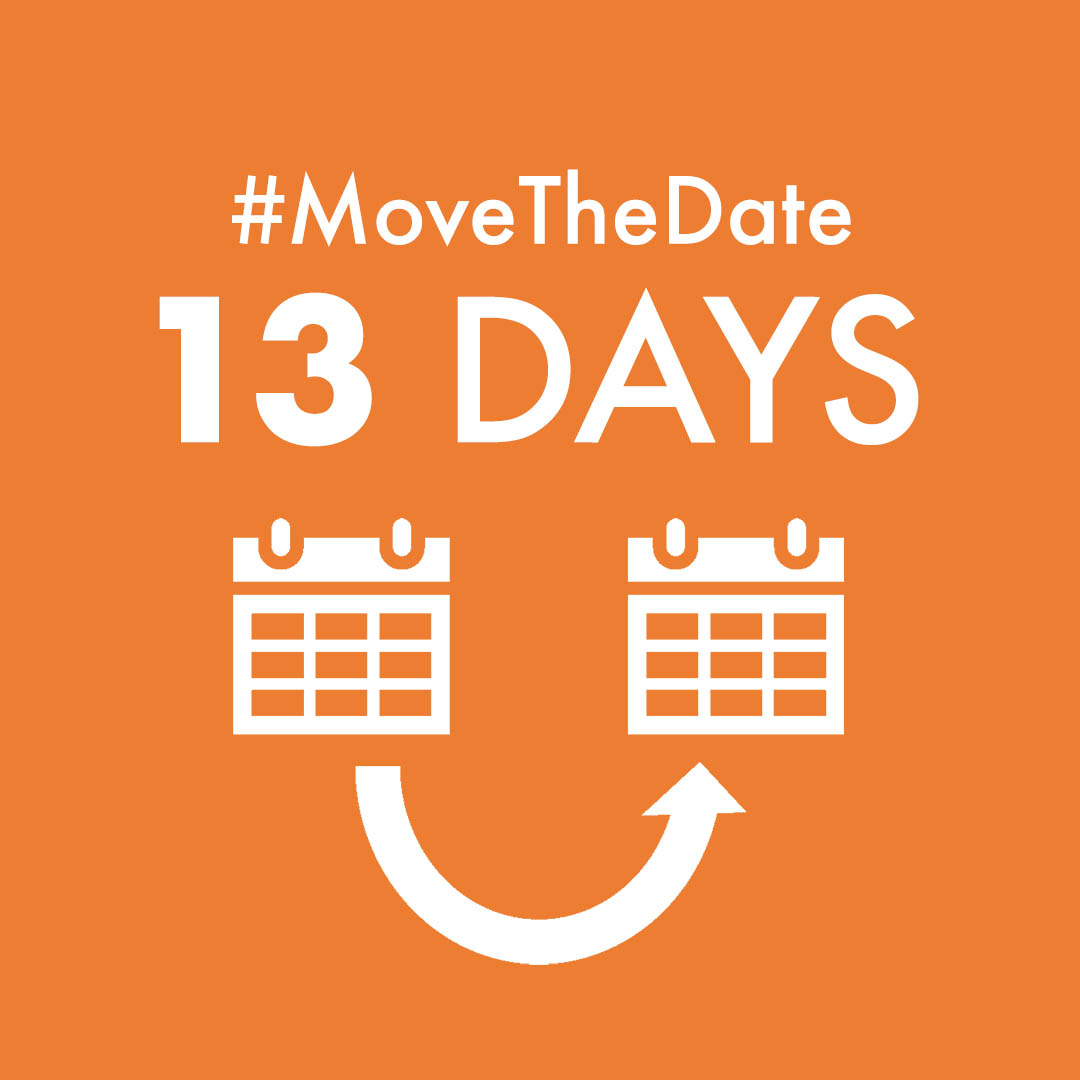 "orange square with white text ""#MoveTheDate 13 days"" food waste"