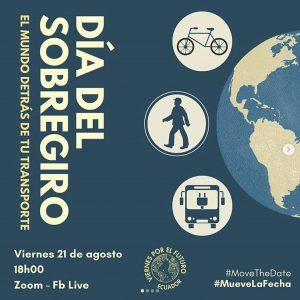 Día del Sobregiro Fridays for Future Ecuador event flyer
