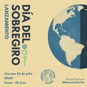 flyer for July 24 Fridays for Future Ecuador event