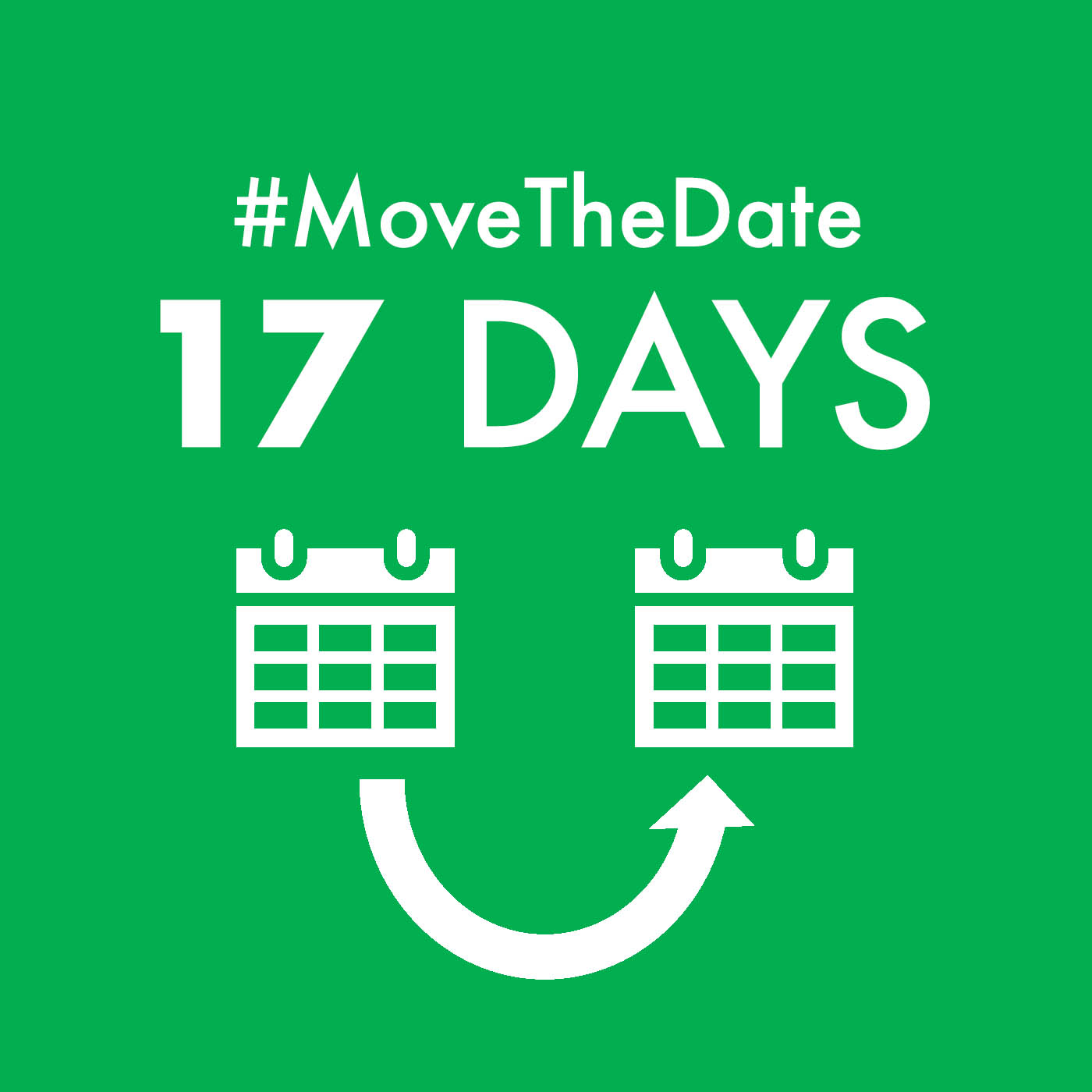 "green square with white text ""#MoveTheDate 17 days"" vegetarian diet"