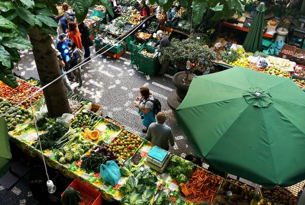 view of market on the street