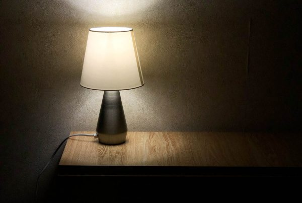 lamp with LED bulb